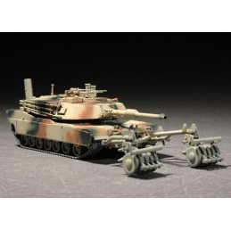 TRU-07278 Trumpeter 07278 1/72 M1A1 with Mine Roller Set