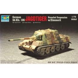 TRU-07293 Trumpeter 07293 1/72 Germany Sd.Kfz.186 JagdTiger (Henschel production) w/Zimmerit coat