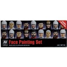 VAL-70119 Acrylicos Vallejo 70119 Pintar caras. 8 colores+paso a paso.