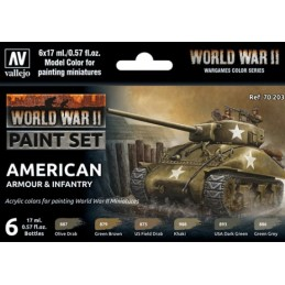 VAL-70203 Vallejo 70203 WWII-American ArmourInfantry