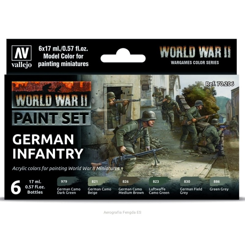 VAL-70206 Vallejo 70206 WWII German Infantry Set