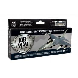 VAL-71156 Acrylicos Vallejo 71156 USAF Colors - Grey Schemes (8)