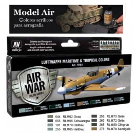 VAL-71164 acrylicos vallejo 71164 Luftwaffe Maritime And Tropical Colors (8)