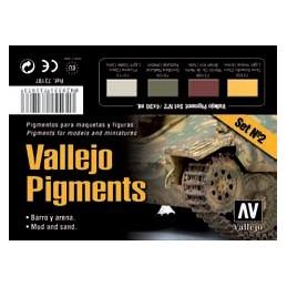 VAL-73.197 Acrylicos Vallejo 73197 Barro y Arena. 4 frascos de 30ml