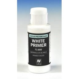 VAL-73600 Acrylicos Vallejo 73600 Imprimación Acrilica-Poliuretano. Frasco 60 ml. Blanco