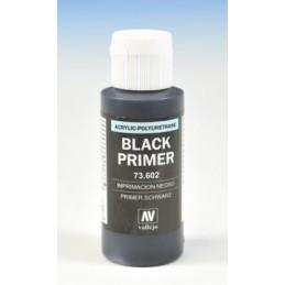 VAL-73602 Acrilicos Vallejo 73602. Imprimación Acrilica-Poliuretano. Frasco 60 ml. Negro
