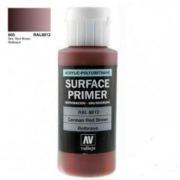 VAL-73605 Acrylicos Vallejo 73605 Imprimación Acrilica-Poliuretano. Frasco 60 ml, Rotbraun RAL8012