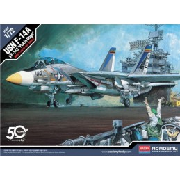 ACA-12563 ACADEMY 12563 1/72 USN F-14A VF-143 PUKIN DOGS