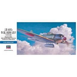 HA-00453 HASEGAWA 00453 1/72  MITSUBISHI A6M5c ZERO FIGHTER (ZEKE) TYPE 52 HEI