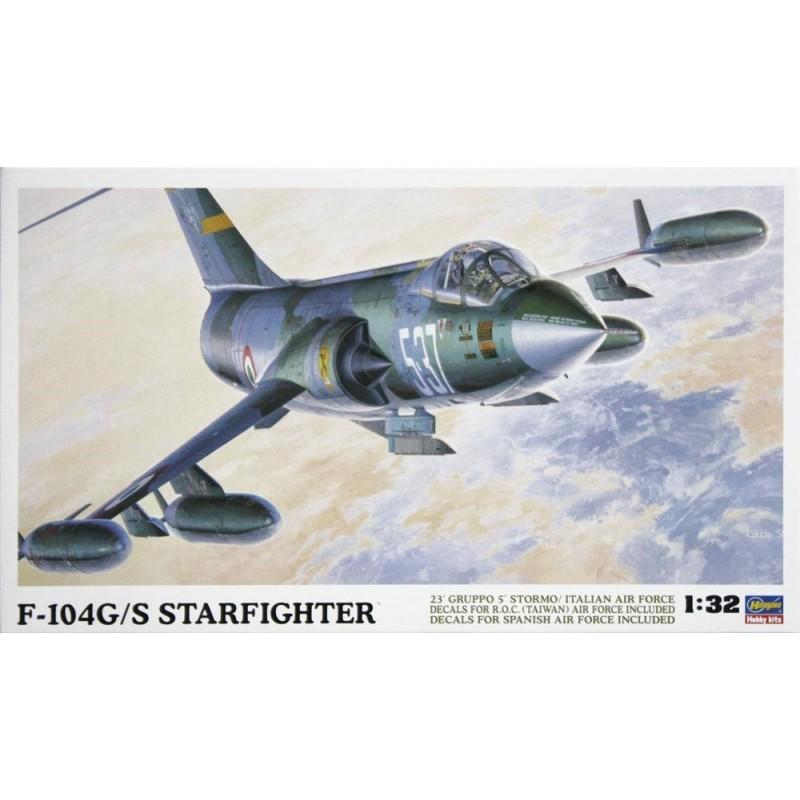 HA-08061 HASEGAWA 08061 1/32  F-104G/S WORLD STARFIGHTER. Calcas españolas