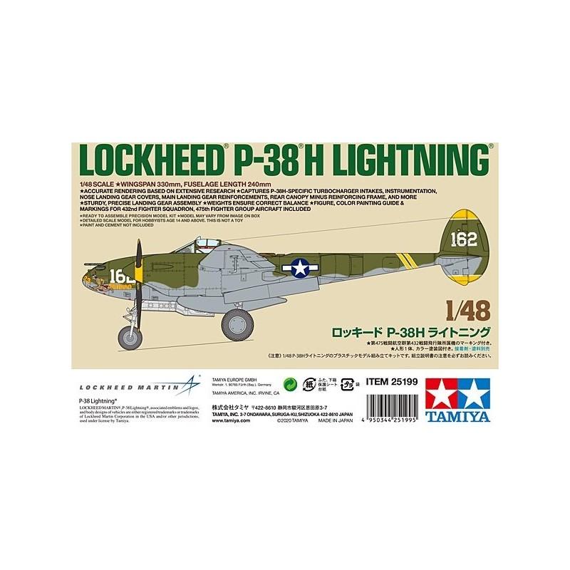 TAM-25199 Tamiya 25199 1/48 Lockheed P-38H Lightning