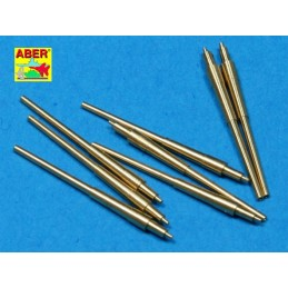 ABE-1:700 L-14 ABER 1:700 L-14 1/700 Set of 8 pcs 380 mm barrels for ships: Bismarck, Tirpitz