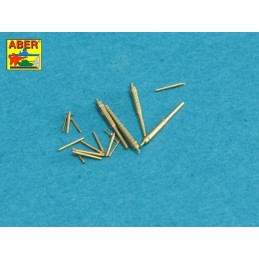 ABE-1:700 L-34 ABER 1:700 L-34 1/700 Set of Barrels for Narvic classe destroyers type 1936A: 150mm x 5. 37mm x 8. 37mm(M42) x 10