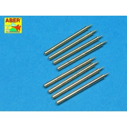 ABE-A32109 ABER A32109 1/32 Set of 8 turned cal .50 (12,7mm) U.S. Browning M2 barrels for P-47 Thunderbolt