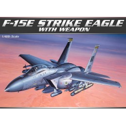 ACA-12264 ACADEMY 12264 1/48 F-15E STRIKE EAGLE W/WEAPONS