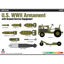 ACA-12291 ACADEMY 12291 1/48 US WWII ARMAMENT SET+TRACTOR