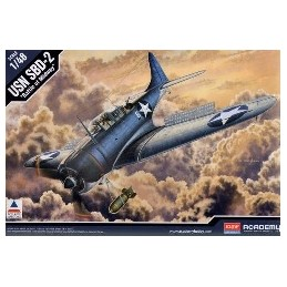 ACA-12296 ACADEMY 12296 1/48 USN SBD-2 MIDWAY