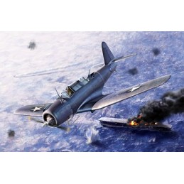 "ACA-12324 ACADEMY 12324 1/48 SB2U-3 VINDICATOR ""BATTLE OF MIDWAY"""