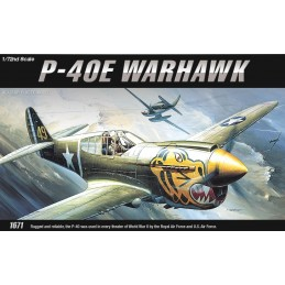 ACA-12468 ACADEMY 12468 1/72 P-40E WARHAWK (1671)