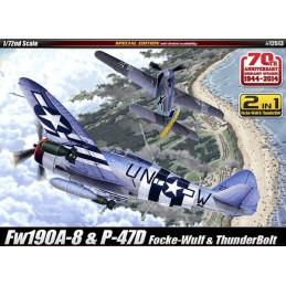 ACA-12513 Academy 12513 1/72 Fw190A-8  P-47D