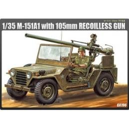ACA-13003 academy 13003 1/35 M-151A1 MIT 105mm