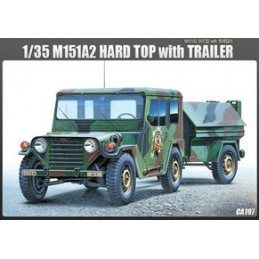 "ACA-13012 academy 13012 1/35 M-151A2 ""HARD TOP"" W/TRAILER"
