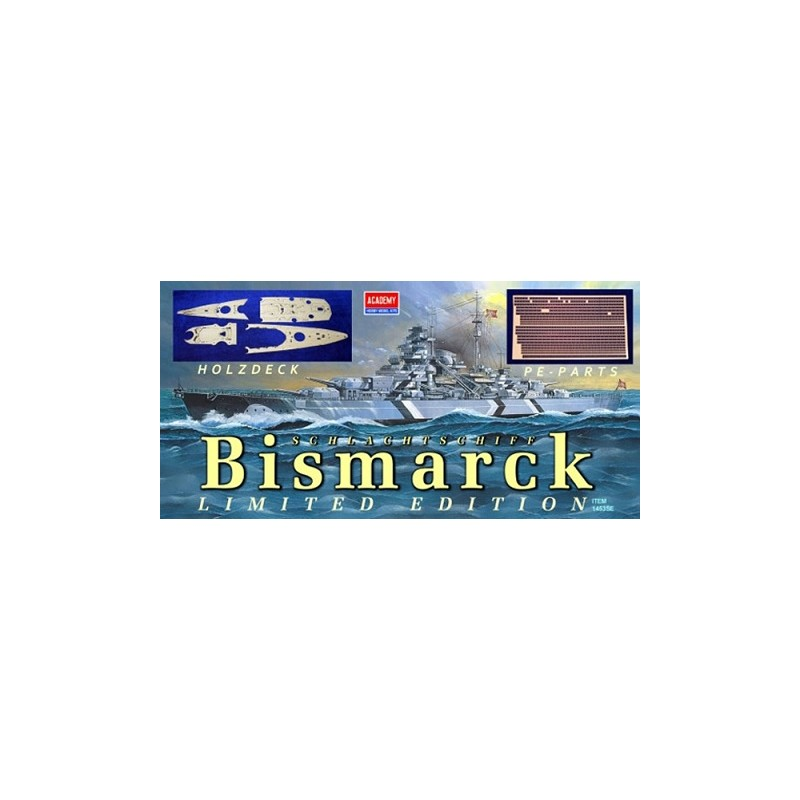 ACA-14109SE ACADEMY 14109SE 1/350 BISMARCK  SE fotograbados+cubierta madera