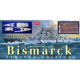 ACA-14109SEL 1/350 BISMARCK fotograbados+cubierta madera+cañones metalicos