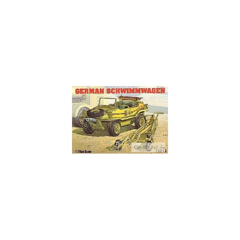 ACA-72012 1/72 GERMAN SCHWIMMWAGEN w/BOMB CART