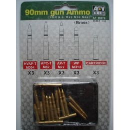 AFV-35076 AFV Club 35076 1/35 90mm Gun Ammo