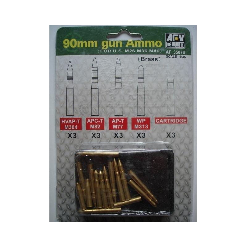 AFV-35076 AFV Club 35076 1/35 90mm Gun Ammo