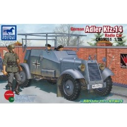 BM-35051 bronco model 35051 1/35  German Adler Kfz.13 Radio Car+fotograbados