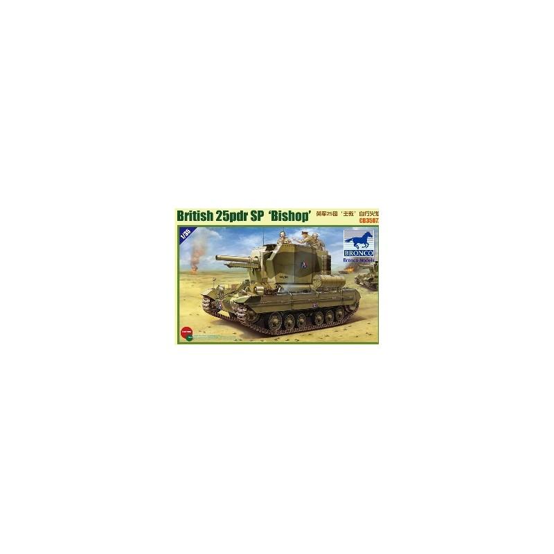 BM-35077 bronco model 35077  1/35 Valentine SPG Bishop  + fotograbados