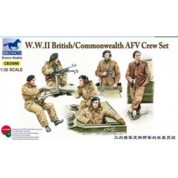 BM-35098 bronco model 35098  1/35 British/Commonwealth AFV Crew set