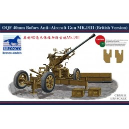 BM-35111 bronco models 35111 1/35 OQF 40mm Bofors Anti-Aircraft Gun Mk.I/III (British Version)