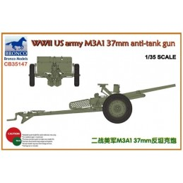 BM-35147 Bronco models 35147 1/35 WWII US army M3A1 37mm anti-tank gun