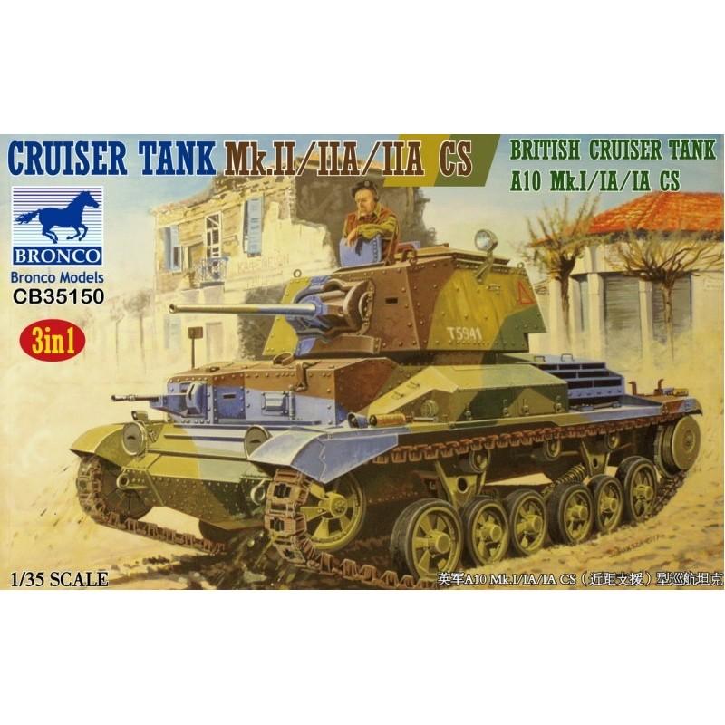 BM-35150 Bronco Models 35150 1/35 Cruiser Tank mk.II/II A10 a/iia CS British Cruiser Tank Mk. I/IA/I