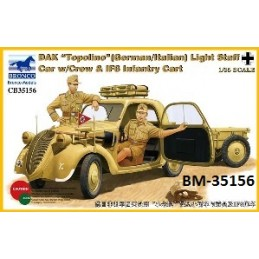 BM-35156 bronco model 35156 1/35 DAK Topolino -German-Italian-Light Staff Car w/Crew  IF8 Infantry Cart
