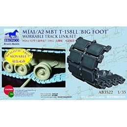 BM-3522 Bronco AB3522 1/35 M1A1/A2  T-158LL.Big Foot. Workable Track Link Set