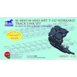 BM-3529 Bronco AB3529 1/35 M-48A5/M-60A3 MBT T-142 Workable Track Link Set