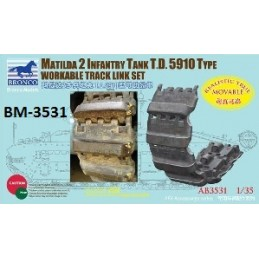 BM-3531 bronco model 3531 1/35 Matilda 2 T.D. 5910 Type Workable Track Link Set