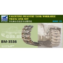 BM-3536 bronco model 3536 1/35 British Valentine Tank Workable Track link Set
