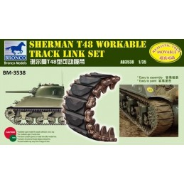BM-3538 bronco model 3538 1/35 Sherman T48 Workable Track Link Set