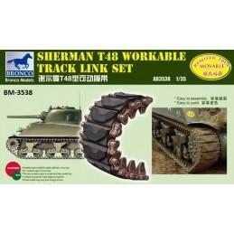 BM-3538 bronco model 3538 1/35 Sherman T48 Workable Track Link Set