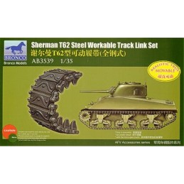 BM-3539 BRONCO MODEL 3539 1/35 Sherman T62 Workable Track Link Set