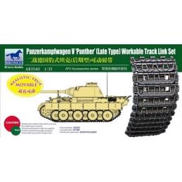 BM-3540 bronco model 3540 1/35 BRONCO 3540 Panther Late Type Workable Track Link Set