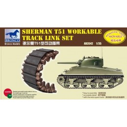 BM-3542 bronco model 3542 1/35 Sherman T51 Workable Track Link Set