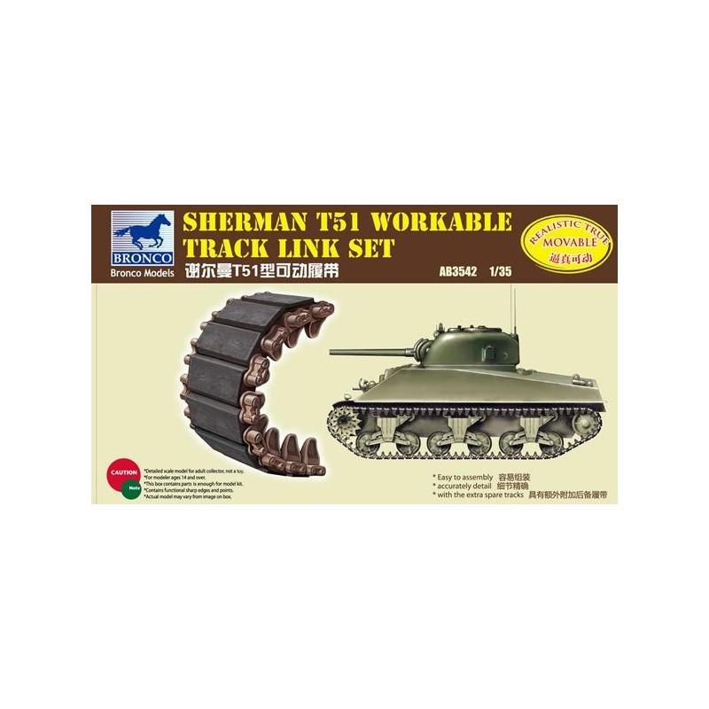BM-3542 bronco model 3542 1/35 Sherman T51 Workable Track Link Set