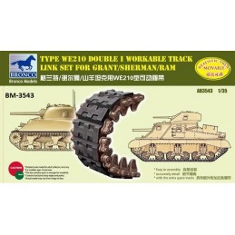 BM-3543 bronco model 3543 1/35 Sherman Double I Workable Track Link Set