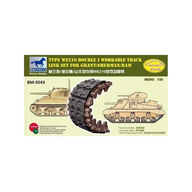 BM-3543 bronco model 3543 1/35 Sherman Double I Workable Track Link Set